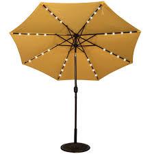 Patio Umbrella Crank Powered 32 Led Lighted Outdoor Patio Umbrella With Crank And Tilt