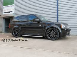 black land rover with black rims range rover sport alloy wheels cades bern in black accented 22