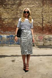sequin skirt what to wear with a sequined skirt for day and