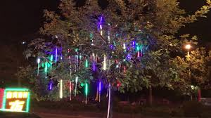 led meteor shower lights waterproof string for tree