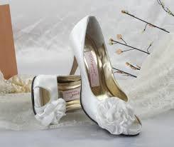 dyeable wedding shoes mid heel flower peep toes white dyeable wedding shoes