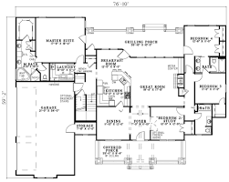 3 bedroom 4 bath house bungalow plans house plans