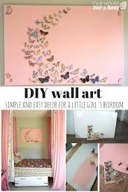 girl bedroom wall art a butterfly and canvas craft our house i also love how simple it was to make i tend to share detailed projects and heavy duty diy here or the easiest crafts ever imagined