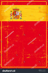 The Flag In Spanish Spanish Grunge Poster Red Poster Flag Stock Vector 125765054