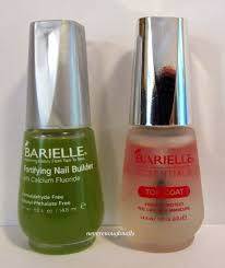 never enough nails barielle top coat and fortifying nail builder
