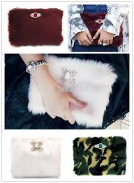 wholesale 2015 fashion vintage hollywood women fake fur clutch