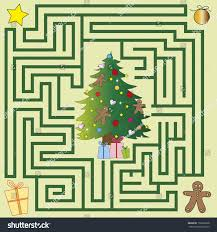 christmas maze children game stock illustration 150256328
