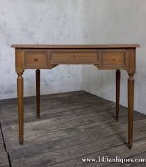 Swedish Secretary Desk by Long Narrow Distressed Silver Metal And Glass Console Table Modern
