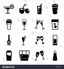 mixed drink clipart black and white cocktail icons set set 16 cocktail stock vector 617644475