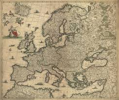 Old Map Of Europe by