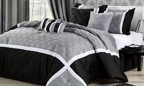 Black And Silver Bed Set 9 Best Bed And Bath Images On Pinterest Black Silver 34 Beds