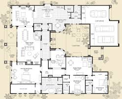 floor plans for 1 story homes interesting ideas single story house plans with casita 1 story