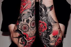 16 masculine rose tattoos for men