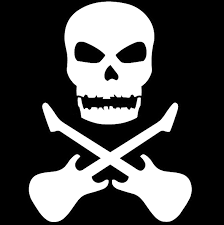 11 15cm skull and cross guitar symbol car stickers motorcycle