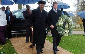 Princess Diana S Grave Earl Spencer Right Escorting Former South African President