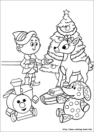 rudolph the red nosed reindeer colouring pages funycoloring