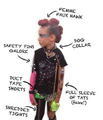 Halloween Rockstar Costume Ideas Diy Punk Rocker Costume Elumdesigns Halloween