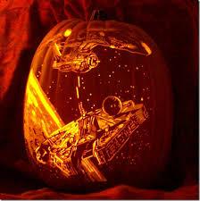 awesome enterprise vs millennium falcon pumpkin carving falcons