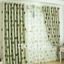 Green And Brown Curtains Casual Modern Best Blackout Aqua Brown And Green Polka Dot Curtains