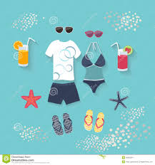 Tropical Clothes For Travel Summer Seaside Holiday Or Tropical Travel Stock Vector Image