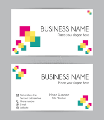 Business Cards Front And Back Print Graphic Business Card Design Front And Back Stock Vector