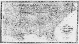 Southern States Of America Map by Hargrett Library Rare Map Collection Transportation