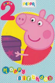 peppa pig age 2 birthday card amazon co uk toys u0026 games