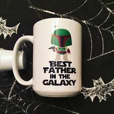 star wars boba fett best father in the galaxy coffee mug