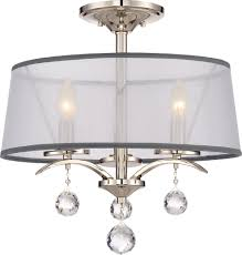 Ceiling Mounted Light Fixture by Quoizel Whi1716is Whitney Imperial Silver Flush Mount Light