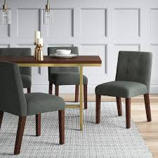 target parsons dining table modern parsons dining chair with buttons dark grey project 62