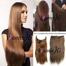 How To Make A Halo Hair Extension by Amazon Com Remeehi 15