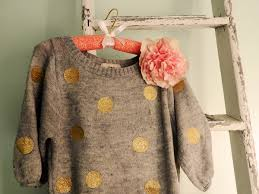 diy sweater diy gold glitter polka dot sweater freaking it where could