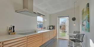 stylish kitchen in a classic danish detached house