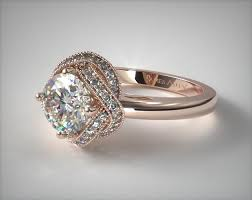 gold halo engagement rings infinity milgrain halo engagement ring 14k gold 17535r14