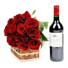 flowers wine buy noble pack of wine roses online for home delivery