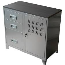 armoire metallique bureau occasion armoire 1 porte 3 tiroirs en métal alu 80x40x75 achat vente