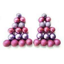 buy time 50mm purple and pink shatterproof ornaments set