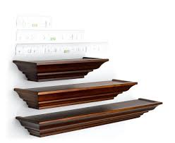 Free Floating Shelves by Wall Mounted Shelf
