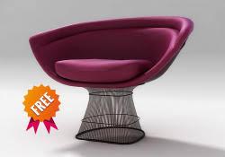 Platner Armchair Platner Armchair Free 3d Model Platner Lounge Chair 1platner