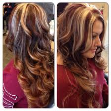 highlights and red panels gorgeous salon visalia ca hair
