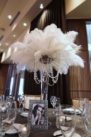Ostrich Feather Centerpieces Wedding Planning Gatsby Gatsby Party And White Gold