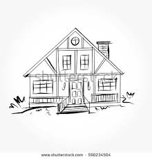 set private houses hand drawn vector stock vector 224270464
