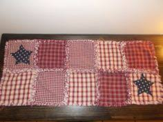 Primitive Table Runners by Primitive Country Rag Quilt Table Runner Candle Mat Runners