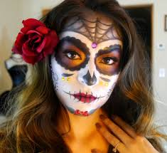 Skeleton Face Paint For Halloween by Sugar Skull Makeup Tutorial Dia De Los Muertos Halloween 2015