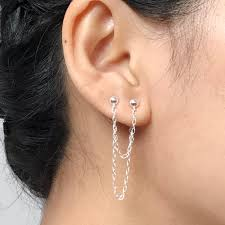 one ear earring earring made of 925 sterling silver for those who