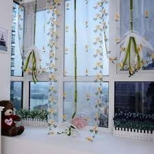 0 8m 1m elegant embroidery window curtains roman valance sheer