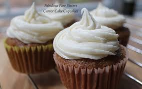 carrot cake cupcakes u2013 fabulous fare sisters