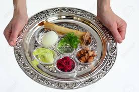 pesach plate woman carry passover seder plate with the seventh
