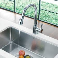 Vigo Kitchen Faucets Vigo Industries Vg02013 Single Lever Pull Down Faucet With Dual
