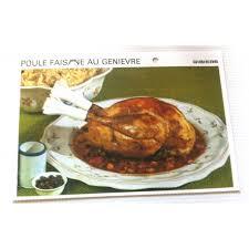 cuisiner une poule faisane fiche cuisine vintage rétro poule faisane au genièvre